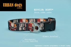 Obroża  Urban dogs - let's rock (soft edition)